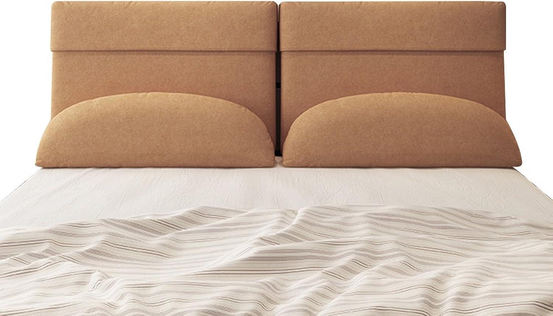 FLY Coussin De Tête De Lit Souple en Tissu à Tatami à L'arrière, Coussin De Lit Minimaliste Moderne, Amovible Et Lavable Coussin d'oreiller (Couleur   lumière marron, Taille   150x10x60cm)