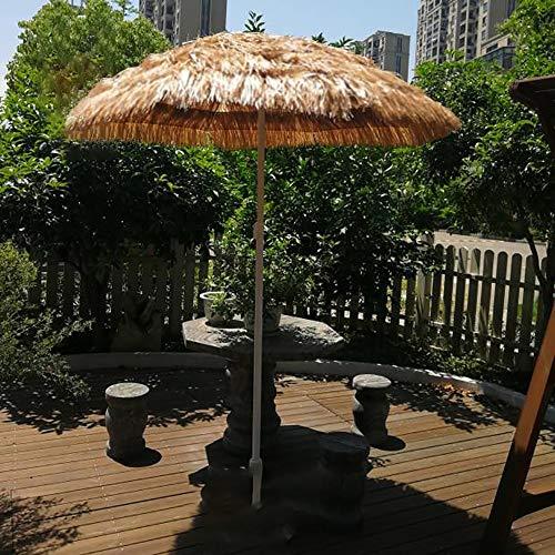 Parasol WYZQQ Ombrellone di Paglia Hawaiano Square Beach, 1,8 * 1,8 M Hula Turco Tiki Umbrella, Stile Artistico, Ombrelli da Esterno in Legno,Adatto A Spiagge, Feste, Decorazioni da Giardino, ECC.
