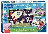 Ravensburger- Peppa Pig Rompecabezas de Caja 3 en 1 (6959)