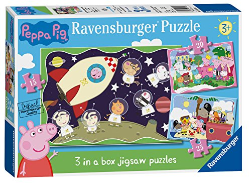 Ravensburger Peppa Pig 3Puzzle in Scatola (15, 20, 25PC)