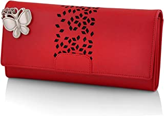 Butterflies Women's Wallet (Red) (BNS 2394RD)
