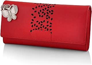 Butterflies Women's Wallet (Red) (BNS 2394RD)