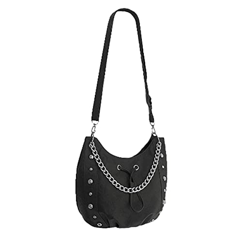 3103e25001 EyeCatch - Vespa Studded Chain Womens Faux Leather Shoulder Bag