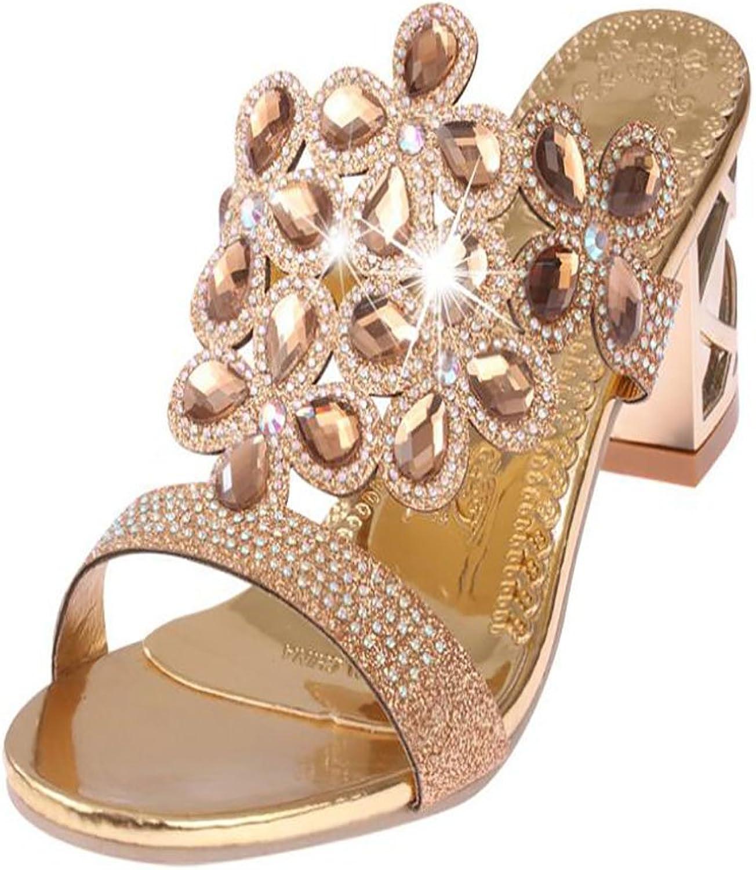 LZWSMGS Women's shoes PU Casual gold Black bluee Summer Comfortable Sandals 35-41cm Ladies Sandals (color   gold, Size   6 US)