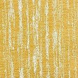 Con tejido de chenilla, tela, Mimosa Yellow, By Half-Metre