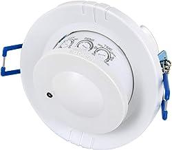 pour lext/érieur et pi/èces humides avec capteur cr/épusculaire Port/ée 10 m belukies D/étecteur de Mouvement Infrarouge 360 /° 110-220V