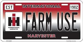 Key Enterprises, Inc. International Harvester Farm Use Embossed Metal License Plate