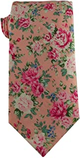 Children's Tie (age 8-14 years old) Youth Tie Pink Floral Cotton Tie