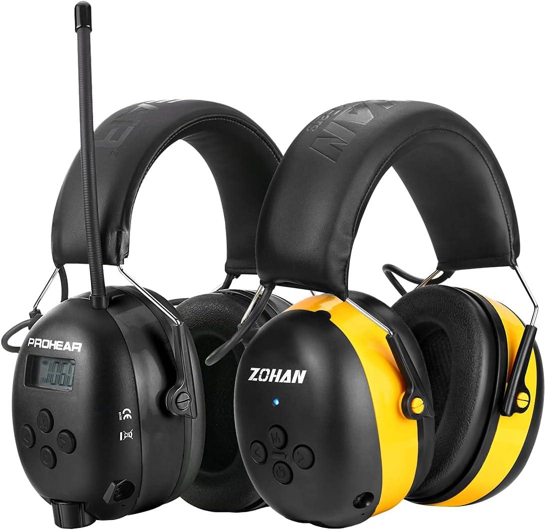 ZOHAN 033 Bluetooth 5.0 AM FM New Orleans Mall Headphones Radio NRR Hearing Selling 25dB