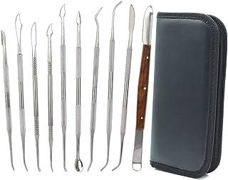 10 outils de sculpture à la cire en acier inoxydable à double extrémité pour sculpture et sculpture en argile,kit d'outils...
