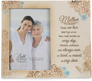 Pavilion Gift Company Mother Memorial 4x6 Inch Picture Frame, Beige