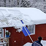Snow Roof Rake by Avalanche! Snowboard Car Racks Universal,Easy Heavy Snow Removal for Standard Asphalt Shingled Roofs to Prevent Ice Dams and Damage. 19.3 Inch Wide, 20 Feet Long, 3 Inch Wheels