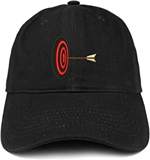 Trendy Apparel Shop Archery Target Quality Embroidered Low Profile Brushed Cotton Dad Hat Cap