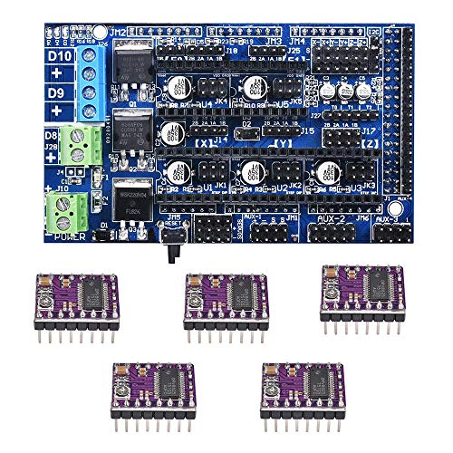 Raitron Upgrade Ramps 1.6 Board Base On Ramps 1.5 4-lagiges PCB Control Panel Mainboard mit 5 DRV8825 Treiber für 3D-Drucker