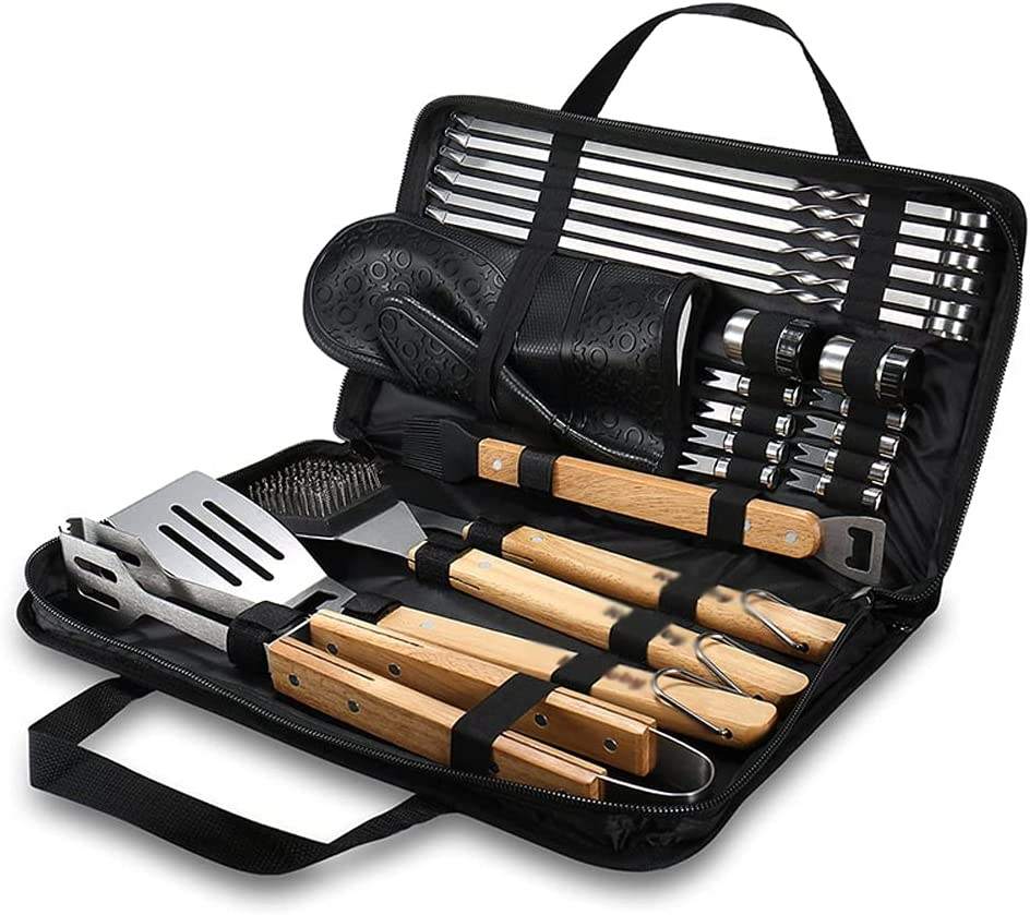 Ranking TOP2 WSSBK BBQ Tools Set Grill Accessories Max 62% OFF Skewers Tongs Brush Spade