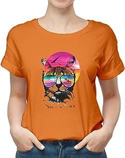 cat sunglasses New modern T-shirt for women TSW-2542