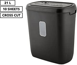 LENOXX Electric Home Office 21L Cross Cut Shredder 10 A4 Paper Sheet/Credit Card Secure