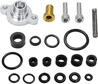 BETTERCLOUD Fuel Pressure Regulator Billet Valve Cap Spring Kit w/Fuel Bowl Reseal Kit + Vibra-Locs Fit for 1999-2003 Ford 7.3L Ford Powerstroke Diesel