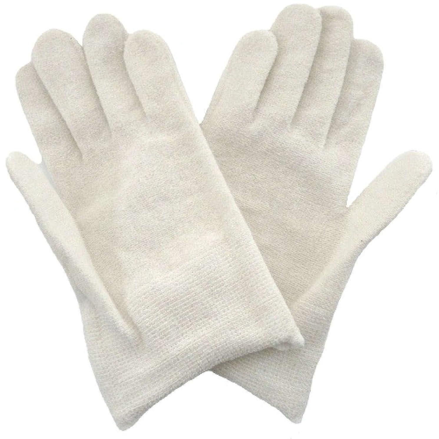 遺伝的前置詞いたずら【アトピー】【水疱瘡】【皮膚炎】 ナノミックス おやすみ手袋:キッズ用 ホワイト