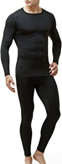 Blank Men's Thermal Microfiber Soft Fleece Long Johns Top & Bottom Set