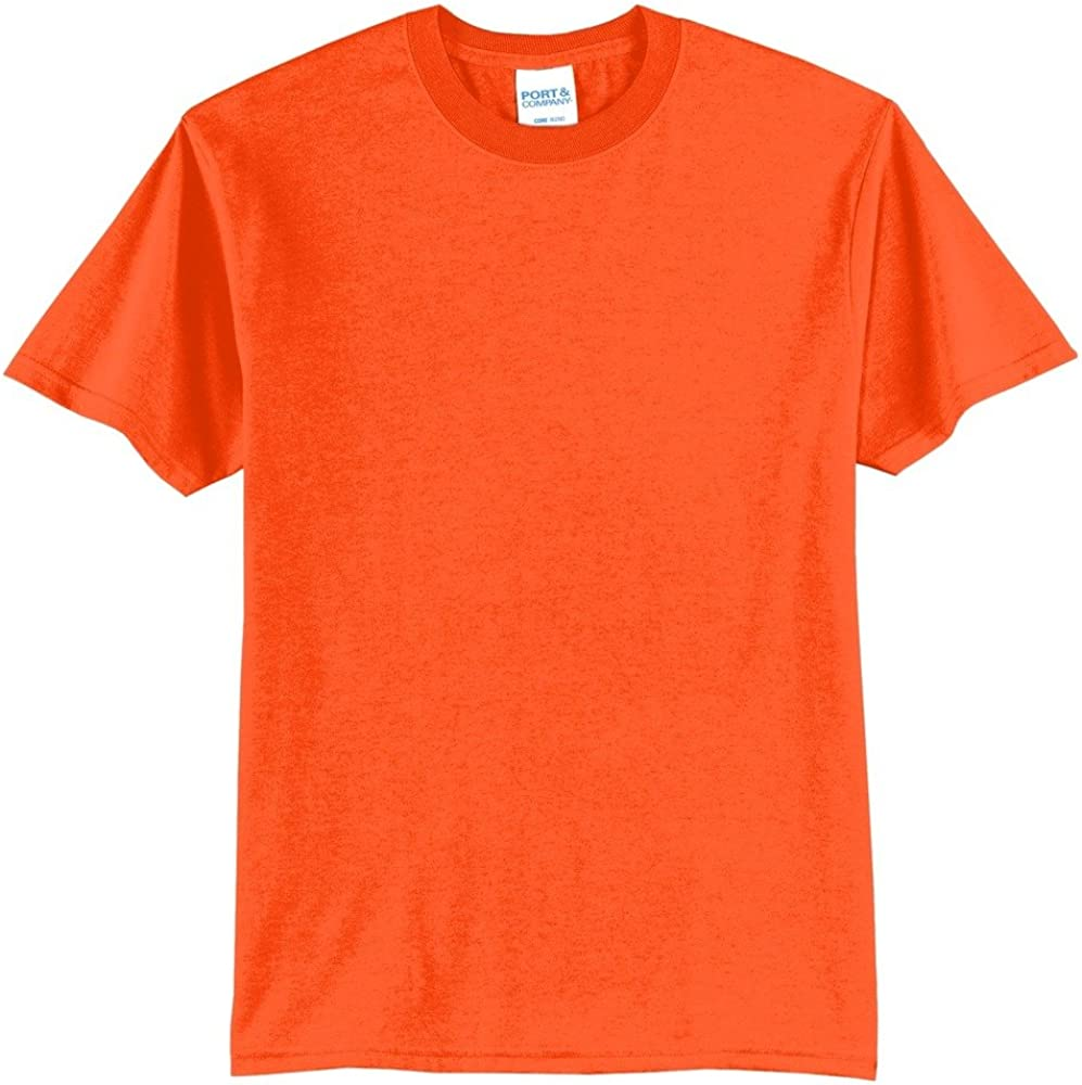 Blank LT-4XLT Tall 50/50 Cotton Polyester Safety Green and Orange NEON Blend Tee T-Shirt