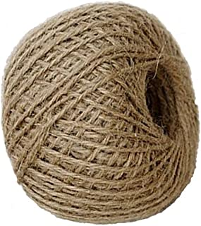 Foyojo Soft 300Feet Natural Jute Twine String Rope Art Craft Wedding and Gift Tags Wrap Decor Decoration Ornament