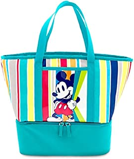 Disney Store Mickey Mouse Zip Cooler Bag Lunch Tote Summer Fun Teal Green 2016