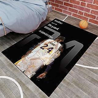 Tritow Black Mamba USA NBA Basketball Tapis NBA Kobe Salon Tapis antidérapant Facile à nettoyer Tapis de zone d'impression...