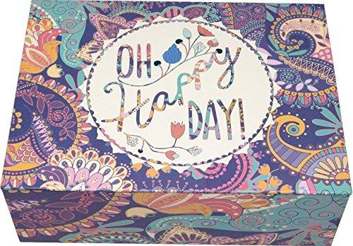 Creibo CBOX004 - Caja Cartón Decorada Oh Happy Day: Amazon.es: Hogar