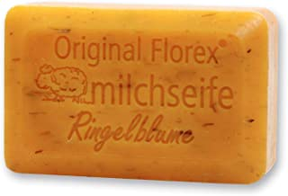 Florex Schafmilchseife - Ringelblume - mit Ringelblumenkräuter und Blumenextrakten 100 g