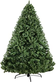 7FT Christmas Tree 2.1M Xmas Faux Green Tree Thick Foliage Jingle Jollys Holiday Decoration Indoor Décor Home Office Class...