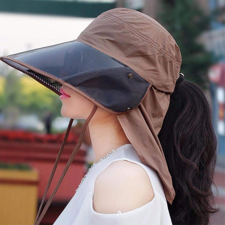 Dingkun New outdoor conservation neck cap men and women of the Visor mirror door light cycling Female Cap hats riding Cap