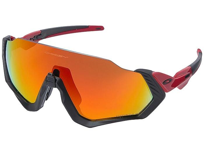 Oakley Flight Jacket (Redline/Matte Black w/ Prizm Ruby Polarized) Sport Sunglasses