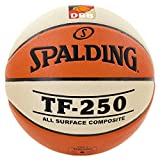 Spalding DBB TF250 IN/out SZ.6 (74-593Z) balón de Baloncesto INT, Hombre, Naranja/Blanco, 6