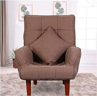WJS Divano Singolo Tessuto Tatami Multifunzionale Lounge Chair Camera da Letto Soggiorno Ufficio Moderno Semplice Sedia Na...