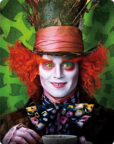 Alice im Wunderland 3D,Steelbook, Blu-ray, Zavvi Exklusiv, OOP, Alice in Wonderland (2010) 3D - Zavvi Exclusive Limited Edition Steelbook (Blu-ray 3D + Blu-ray) (UK Import ohne dt. Ton) Blu-ray