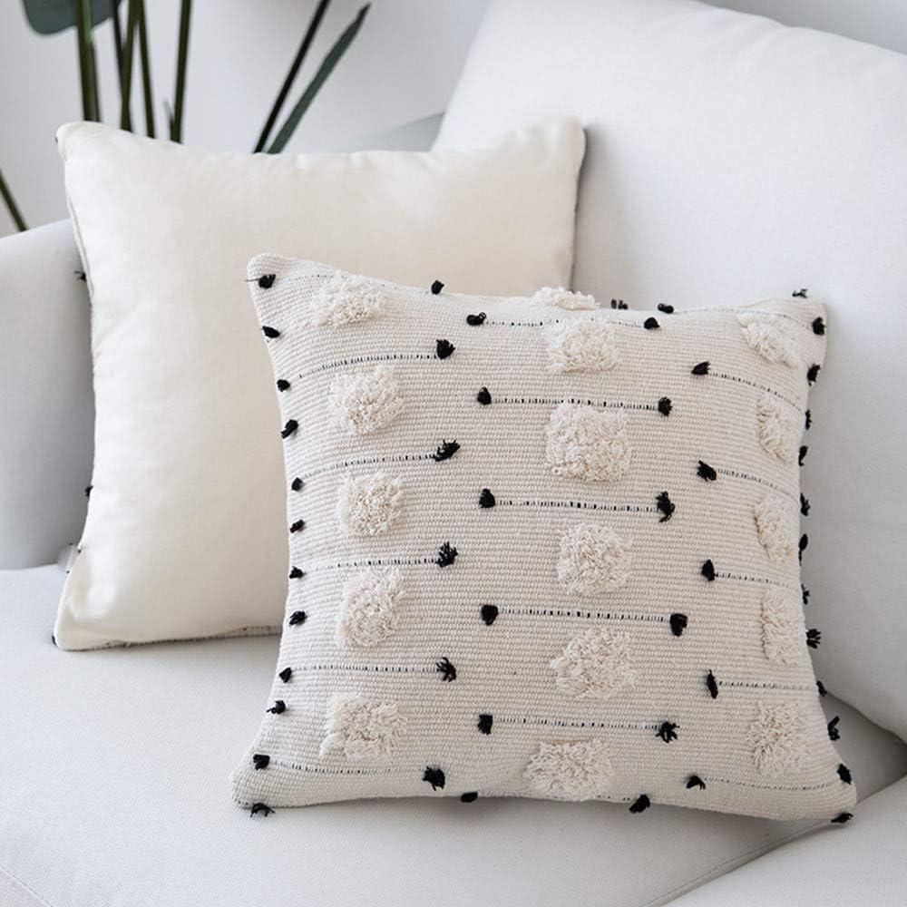 Max 49% OFF cygnus Max 88% OFF Farmhouse Throw Pillow Covers Black Decorative Boho 18x18