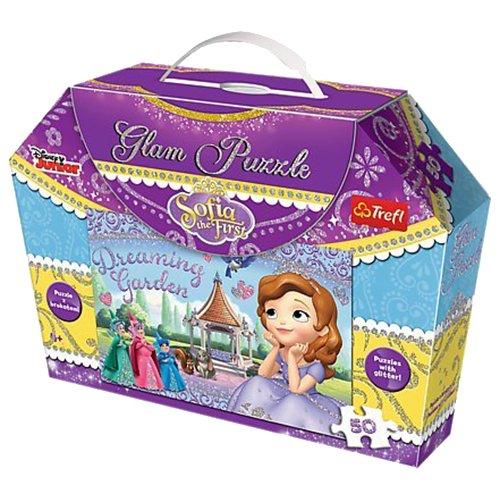 Trefl - 14812 - Glam Puzzle - Disney Sofia the First - 50 Pièces