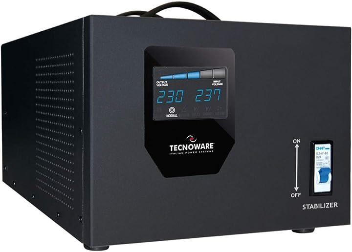 stabilizzatore di tensione Tecnoware power systems elettronico, monofase 230 v da 3.5 kva FSTEL3K5M