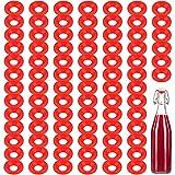 70 Pezzi Guarnizioni in Gomma Silicone Rondella per Bottiglia Swing Flip Top Rondelle Guarnizioni di Tenuta a Prova di Perdite per Uso Sigillatura di Bottiglie di Soda Birra Fatta in Casa