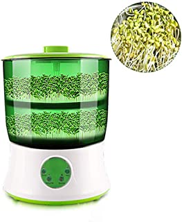 AGAWA Bean Sprouts Machine,Automatic Bean Sprouts Maker,2 Layers Function Large Capacity Seed Grow Cereal Tool,110V