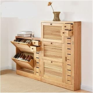 Rhldzswb Chaussure Cabinet chaussure rack meubles Montage chaussures en bois massif Armoire de rangement (Color : Three fl...