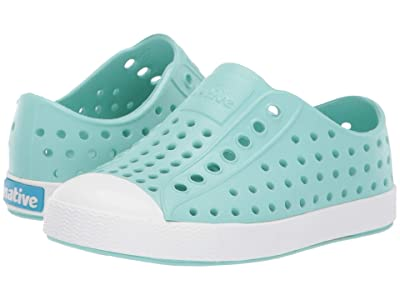 Native Kids Shoes Jefferson (Toddler/Little Kid) (Hydrangea Blue/Shell White) Girls Shoes