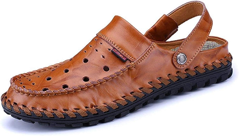 GouuooHi män Sandaler Män's Andable Andable Andable Sandals Mode strand skor Casual skor Round Toe Flat skor Soft Wild Tight Super Quality bspringaaa Balck for män s  upp till 60% rabatt