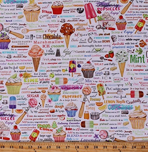 Cotton Ice Cream Cupcakes Popsicles Fruit Recipes Sweets Treats Desserts Bakery Baking Words product image