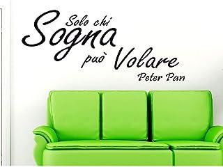 Adesivo Murale Frase Citazione Solo chi sogna può volare Peter Pan Wall Sticker Adesivo da Muro Adesivi Murali Frasi Stick...