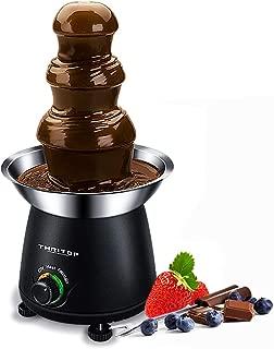 THRITOP Chocolate Pro Fountain,3-Tier Stainless Steel Tower Chocolate Fondue, Fountain kit 11' Black1lb