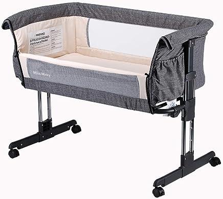 Mika Micky - Cuna portátil para dormir, fácil de plegar, color gris