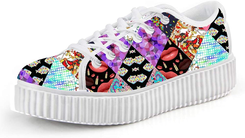 Chaqlin Casual Women's Platform shoes Fashion Creeper Sneaker
