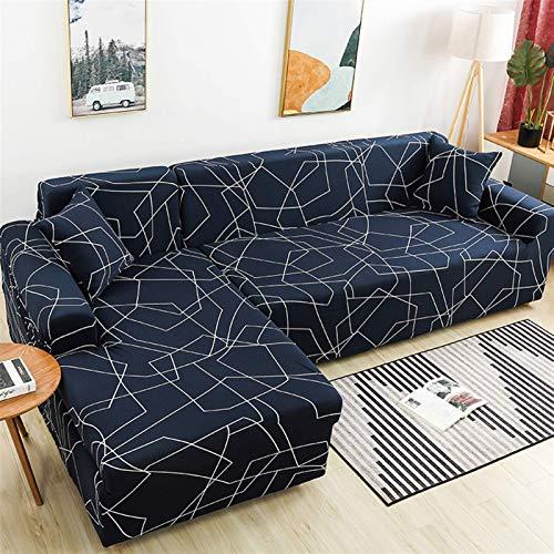 Cubiertas de sofá de esquina para la sala de estar deslochonevers elásticos de sofá cubierta de sofá toalla de toalla L de toalla longue (color: color 22, especificación: 1 asiento 90 140 cm 1pc) FDWF